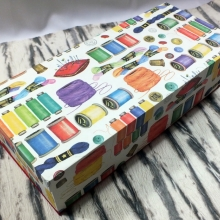 Stülpdeckel Box für Nähutensilien